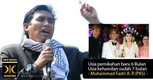 Seorang kader PKS bernama Muhammad Fadri A R