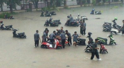 banjir di sma 4 tanjungpinang