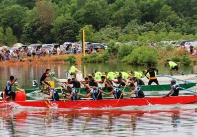 Tim Navi DKI Raih Piala Bergilir Dragon Boat Race Sungai Carang 2016