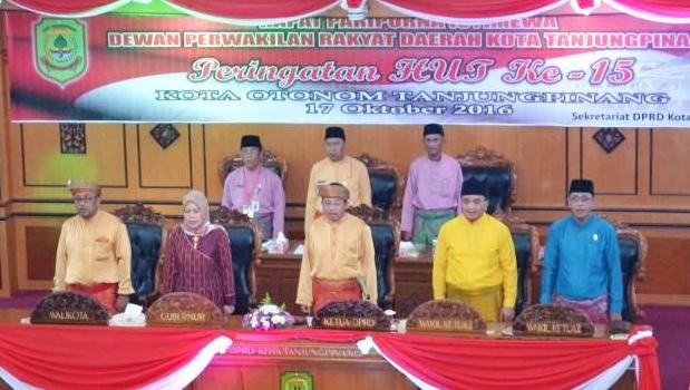 Rapat Paripurna Istimewa DPRD Kota Tanjungpinang