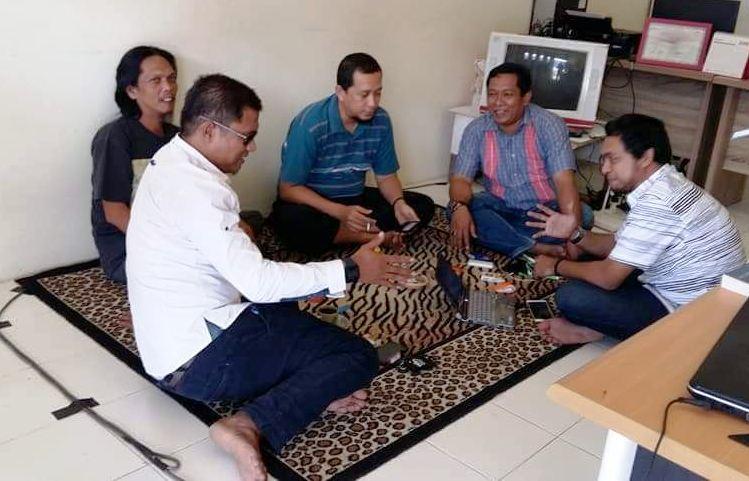 WartaKepri,Ketua PWI Kepri, Ramon Damora, Didampingi pengurus lainnya dan pimred beberapa media