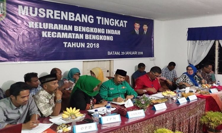 Wartakepri, Camat Bengkong Ingin Fokus Pada Sarana Infrastruktur Musrenbang Kelurahan 2018
