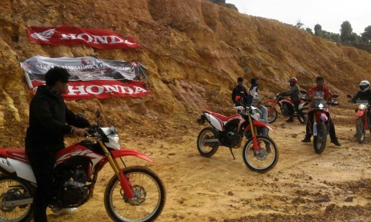 Capella Honda Mengadakan Test Ride Motor Cross All New Honda CRF150L