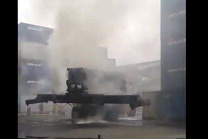 Wartakepri, Alat Berat Pengangkut Peti Kemas Terbakar Tanjungpriok, 3 Mobil Pemadam Kebakaran Dikerahkan