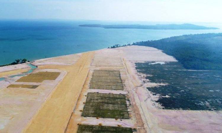Wartakepri, lokasi landas pacu Bandara Bintan yang digarap oleh PT Bintan Aviation Investments (Salim Group) di Kabupaten Bintan Kepulauan Riau