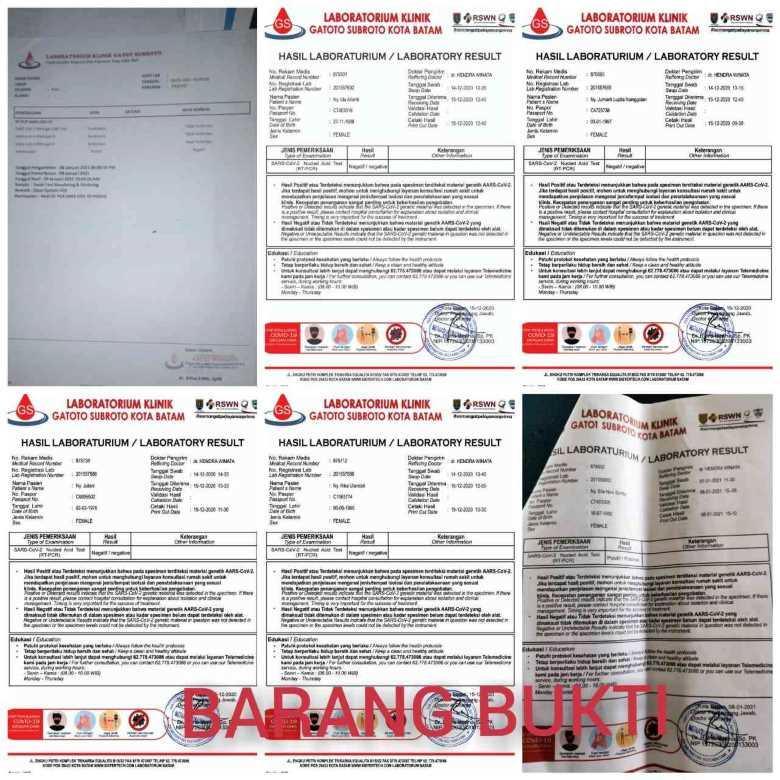 Polsek KKP Batam Ungkap Kasus Pemalsuan Surat Swab Untuk TKI 2