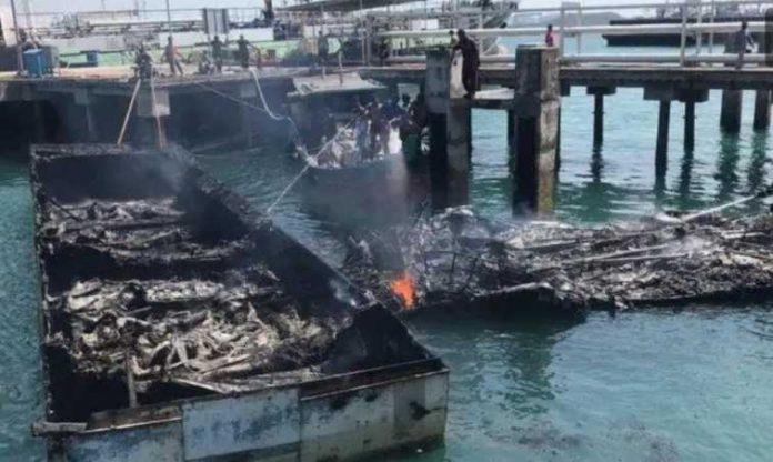 Bea dan Cukai Kapal Terbakar