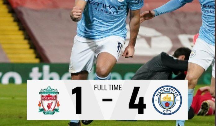Liverpool Kalah 1-4 dari Manchester