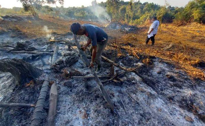 Polsek Galang Tangkap Pembakar Lahan