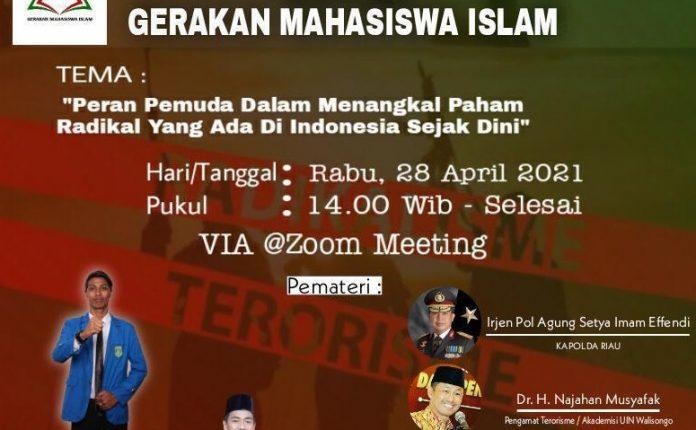 Webinar Gerakan mahasiswa Islam