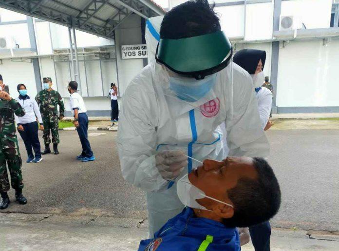 Antisipasi Penyebaran Covid-19 Pasca Lebaran 1442 H Lantamal IV Tanjungpinang Rapid Test Antigen