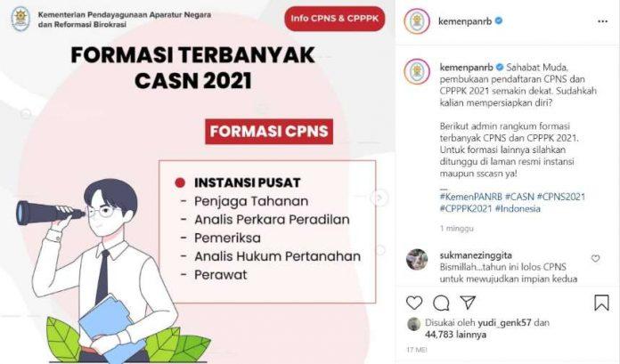 info CPNS 2021 Kemenpanrb