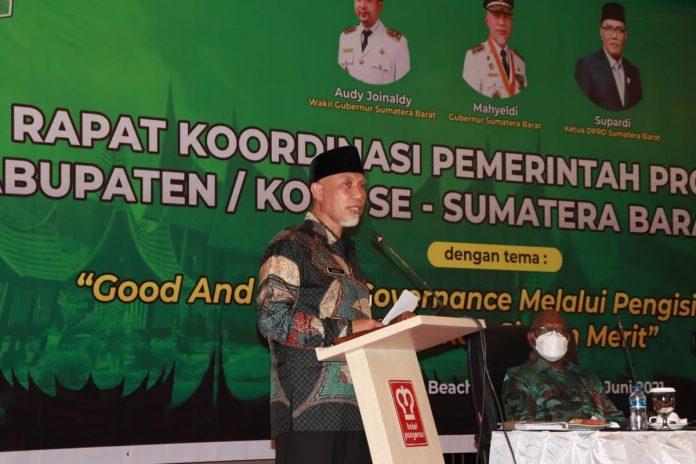 Gubernur Mahyeldi Buka Rakor Sistem Merit Pengisian Jabatan