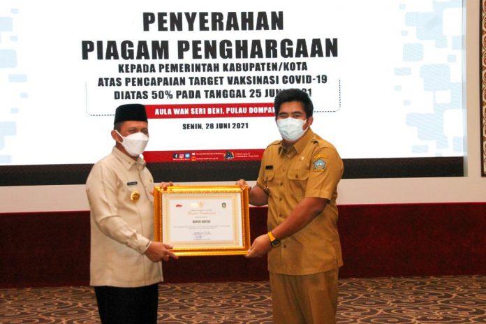 Penghargaan Capaian Vaksinasi Daerah