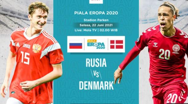Rusia vs Denmark Euro 2020
