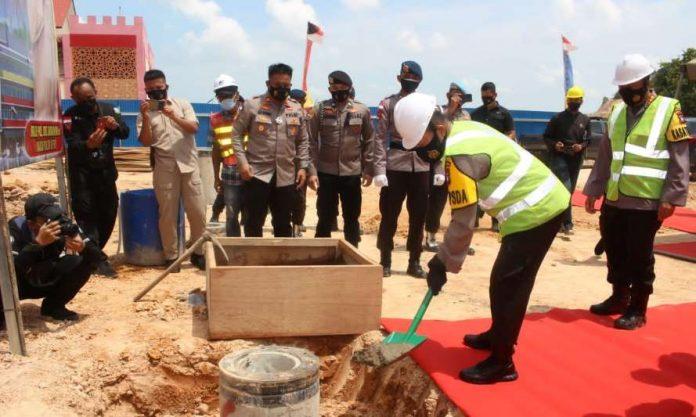 Brimob Polda Kepri Lakukan Peletakan Batu Pertama Pembangunan Rusunawa