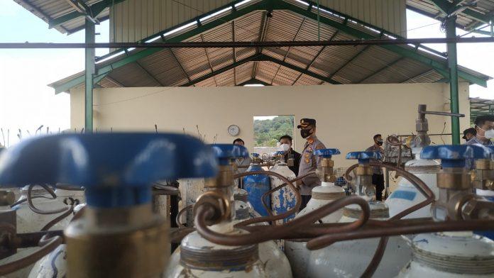 Kapolres Bintan Sidak Dua Perusahaan Pengisian Oksigen