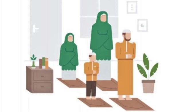 Sholat Idul Adha 2021 di Rumah saja