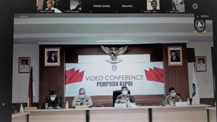 Vicon Satgas Covid Kepri terkait PPKM Bintan dan Tanjungpinang
