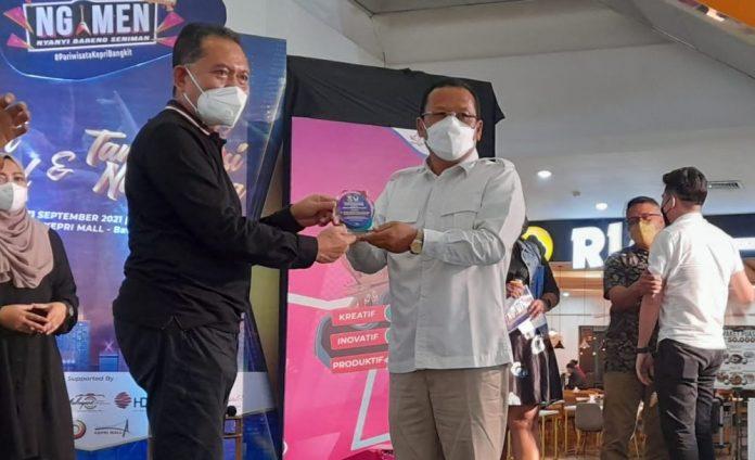 Hadir Acara Ngemen Kepri Mall, Mulia Rindo Purba Berharap Pandemi Covid-19 Segera Berakhir