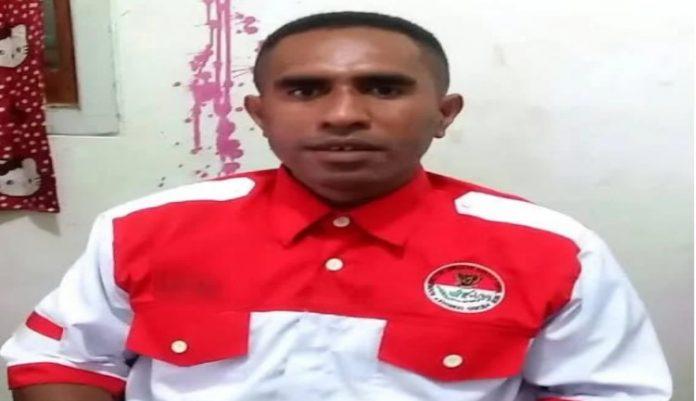 Ketua Pemuda Adat Papua wilayah II Saiberi-Nabire Ali Kabiay