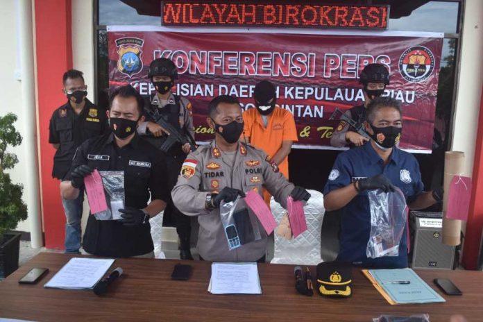 Satnarkoba Polres Bintan Ringkus Residivis Narkoba di Tanjung Pinang