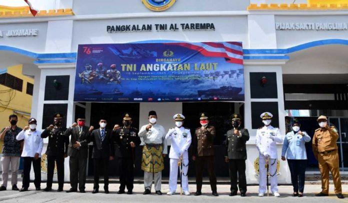 Usai Upacara HUT TNI AL ke-76 Mako Lanal Tarempa