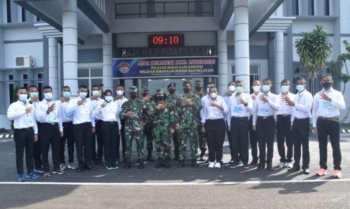 Calon Bintara TNI AL dari Lantamal IV Tanjungpinang