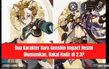 Dua Karakter Baru Genshin Impact