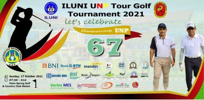 Semarakan Dies Natalis UNP ke-67, Iluni UNP Kepri Gelar Tour Turnamen Golf di Kota Batam